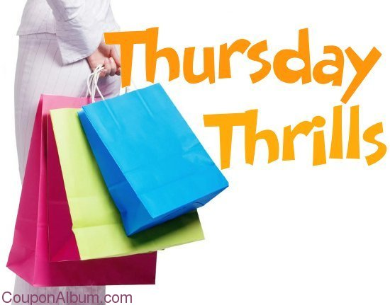 Discount coupons for Thursday!